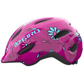 Giro Scamp MIPS Helm Kinder pink street sugar daisies